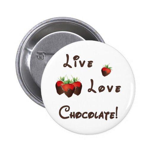Chocolate Strawberry Button