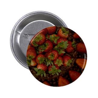 Chocolate Strawberry Cake Pinback Button