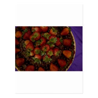 Chocolate Strawberry Cake Postcard