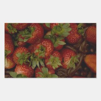 Chocolate Strawberry Cake Rectangular Sticker