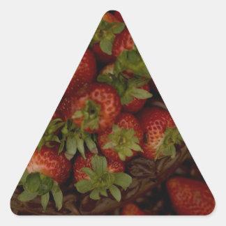 Chocolate Strawberry Cake Triangle Sticker