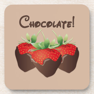Chocolate Strawberry Coaster
