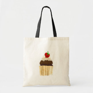 Chocolate Strawberry Cup Cake Tote Bag