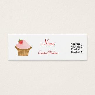 Chocolate Strawberry Cupcake Mini Business Card