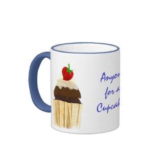 Chocolate Strawberry Cupcake Ringer Mug mug