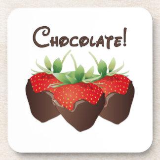 Chocolate Strawberry Drink Coaster