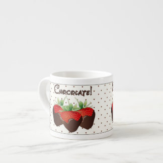 Chocolate Strawberry Espresso Cup