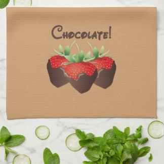 Chocolate Strawberry Hand Towels