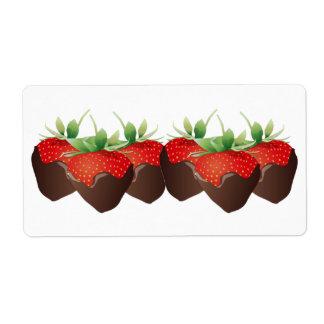 Chocolate Strawberry Label
