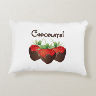 Chocolate Strawberry Love Accent Pillow