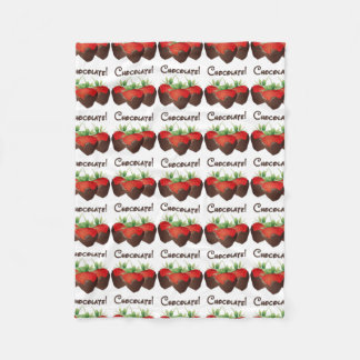 Chocolate Strawberry Love Fleece Blanket