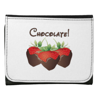 Chocolate Strawberry Love Leather Tri-fold Wallet