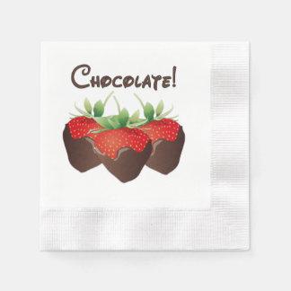Chocolate Strawberry Love Napkin