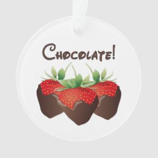 Chocolate Strawberry Love Ornament