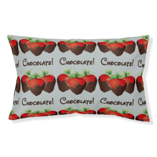 Chocolate Strawberry Love Small Dog Bed