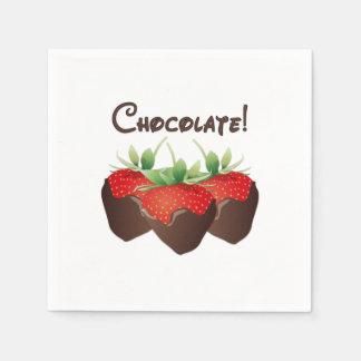 Chocolate Strawberry Love Standard Cocktail Napkin