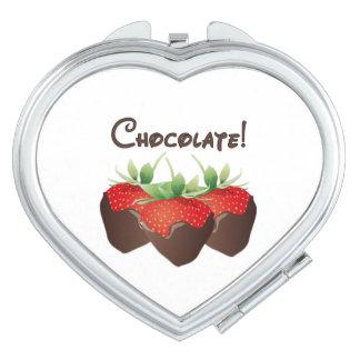 Chocolate Strawberry Love Vanity Mirror