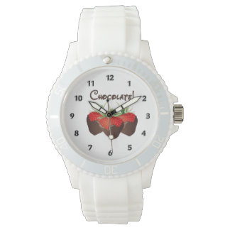 Chocolate Strawberry Love Wristwatches