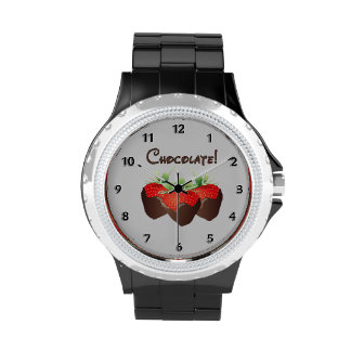 Chocolate Strawberry Love Wristwatches