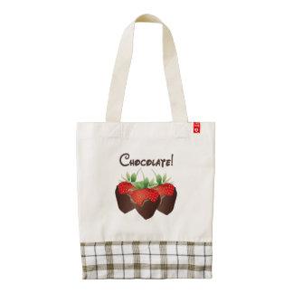 Chocolate Strawberry Love Zazzle HEART Tote Bag