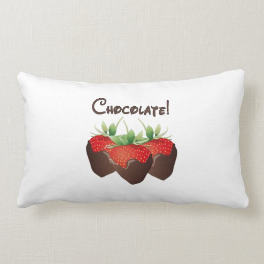 Chocolate Strawberry Lumbar Pillow