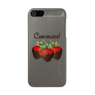 Chocolate Strawberry Metallic iPhone SE/5/5s Case