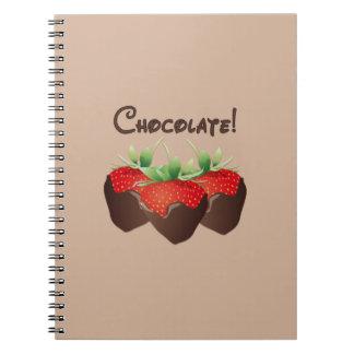 Chocolate Strawberry Notebook