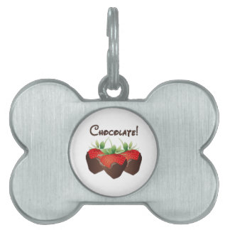 Chocolate Strawberry Pet ID Tag