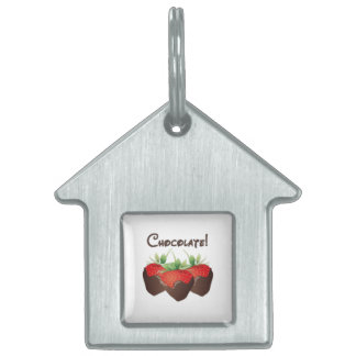Chocolate Strawberry Pet Name Tag