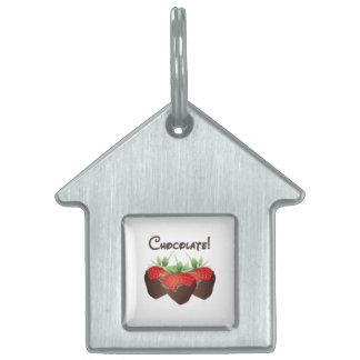 Chocolate Strawberry Pet Tags