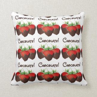Chocolate Strawberry Pillow