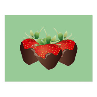 Chocolate Strawberry Post Card
