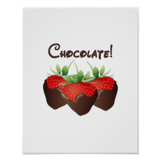 Chocolate Strawberry Poster