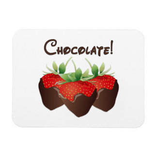 Chocolate Strawberry Rectangle Magnet