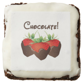 Chocolate Strawberry Square Brownie