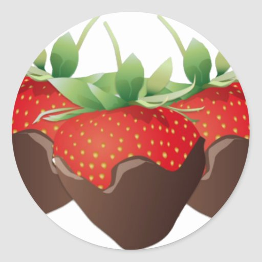 Chocolate Strawberry Stickers