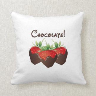 Chocolate Strawberry Throw Pillow