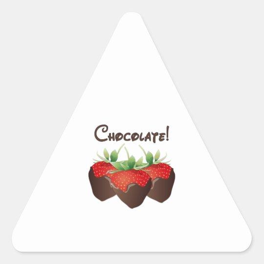 Chocolate Strawberry Triangle Sticker