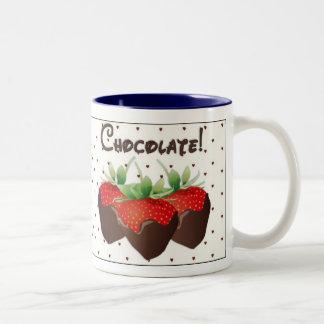 Chocolate Strawberry Two-Tone Coffee Mug