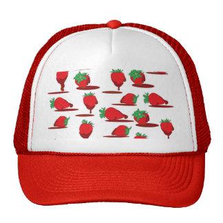 Chocolate Strawberry Wallpaper Trucker Hat