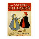 Chocolate Suchard 2 Vintage Ad Postcard