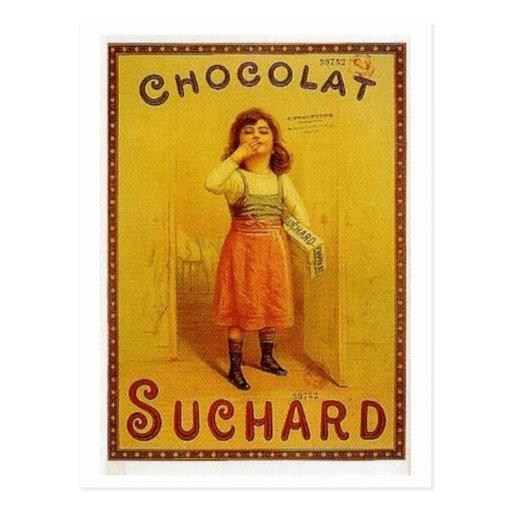 Chocolate Suchard Vintage Ad Postcard