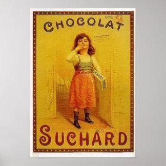 Chocolate Suchard Vintage Ad Poster