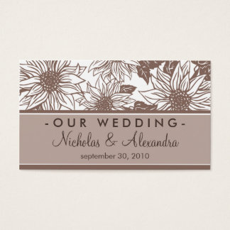 Chocolate Sunflowers Wedding Website Card