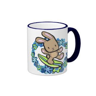 Chocolate Surfing  Bunny Mugs