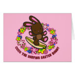 Chocolate Surfing  Easter Bunny Cards