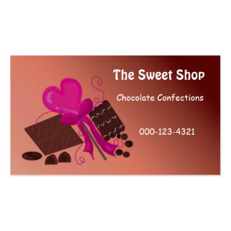 Chocolate Sweet Shop Double-Sided Standard Business Cards (Pack Of 100)