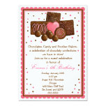 "Chocolate Sweet Shop Inivtations 5"" X 7"" Invitation Card"
