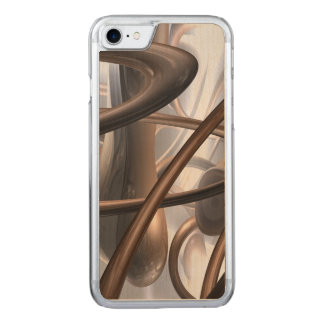 Chocolate Swirl Abstract Carved iPhone 7 Case