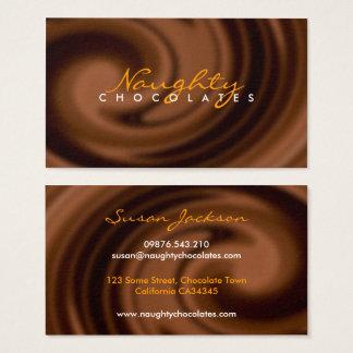 Chocolate Swirl Business Card